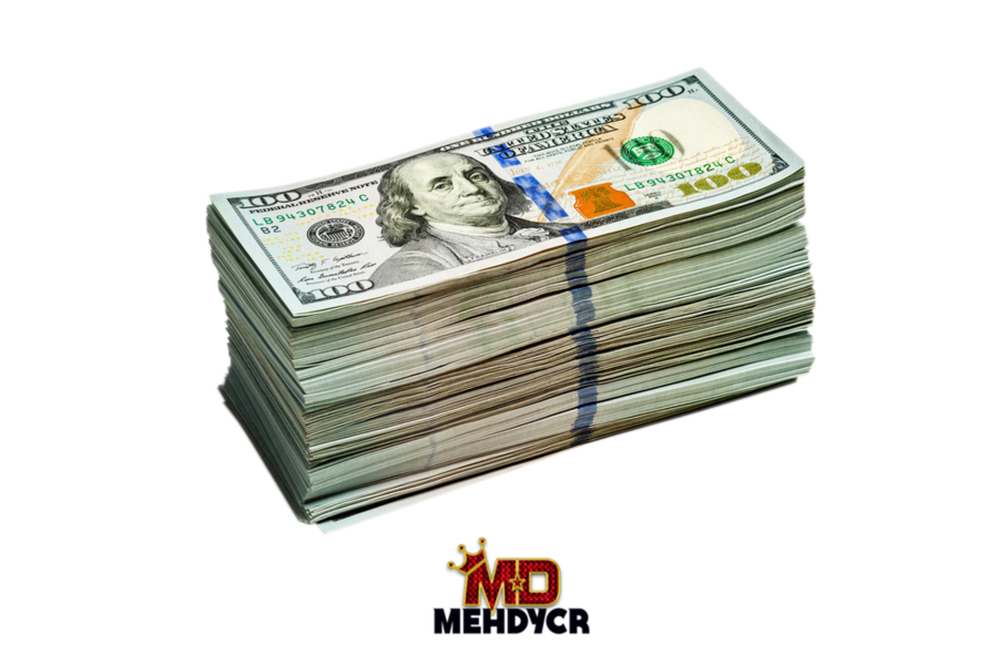 New 100 US Dollars Stack (PNG) | Official PSDs