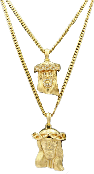 2 gold jesus pendants png official psds share this image aloadofball Gallery
