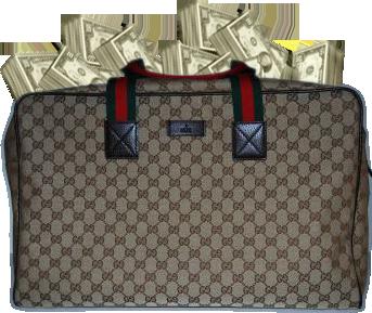 Gucci Duffle Bag Full Of Money Psd