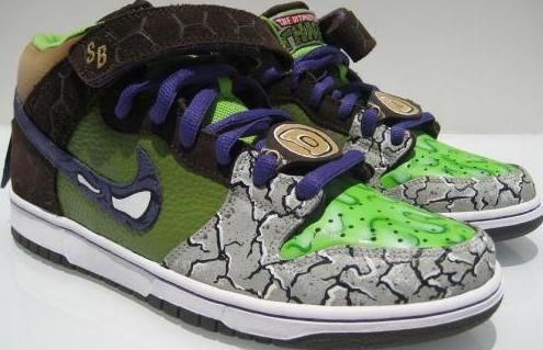 sports shoes e13ce 0dae8 Ninja Turtle Nike Dunks Sb Donatello (PSD)
