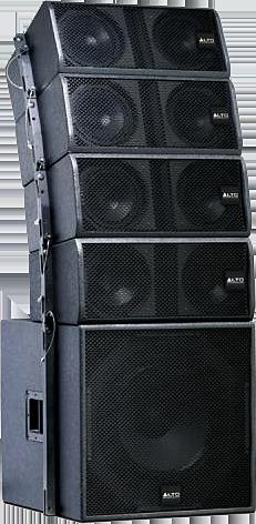 Black Alto Concert Stage Speakers PSD