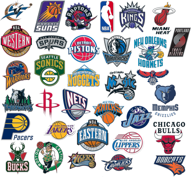 Nba Team Logo Compilation (PSD)