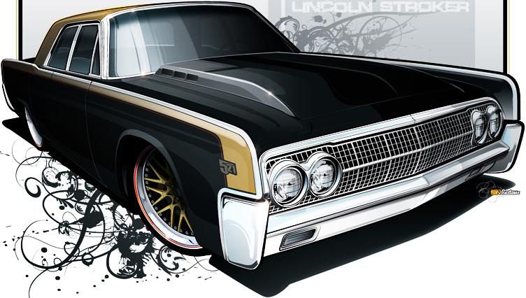 Lowrider Custom Car PSD