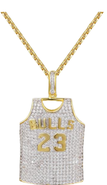 purchase cheap 0bf95 42211 Michael Jordan Gold Hall Of Fame Jersey Chain (PNG ...