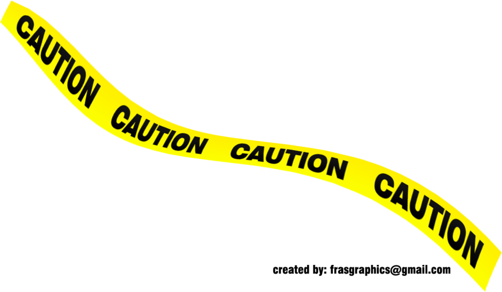 Black And Yellow Caution Tape 1 (PSD) | Official PSDs
