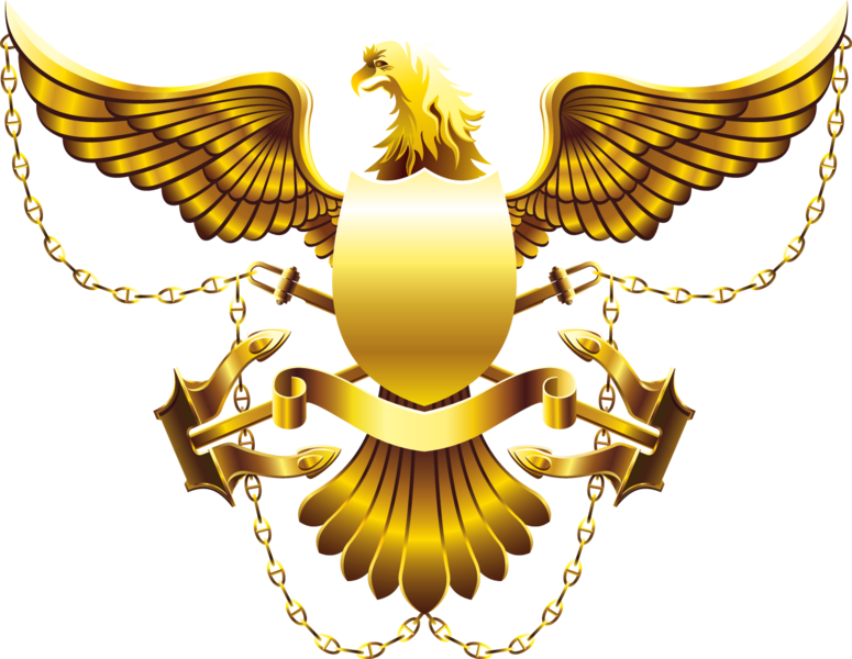Gold Eagle Shield High Res Psd Official Psds