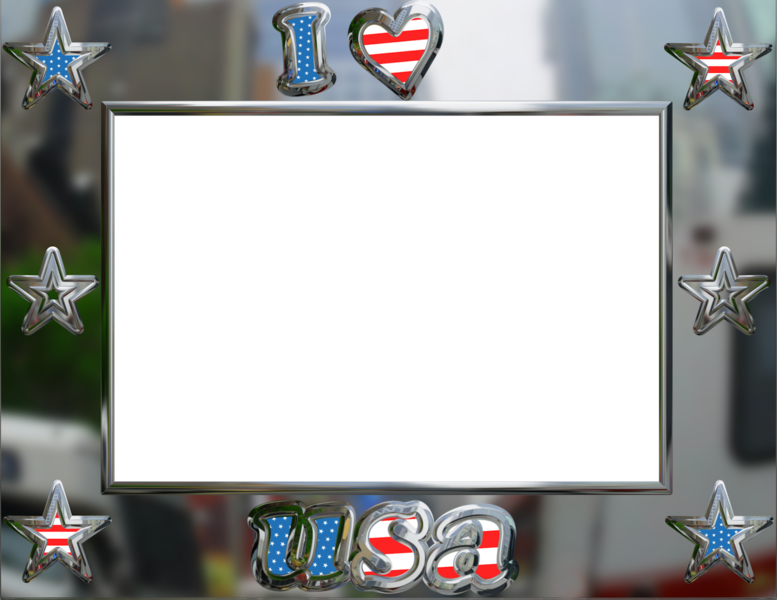 American Flag Frame (PSD) | Official PSDs