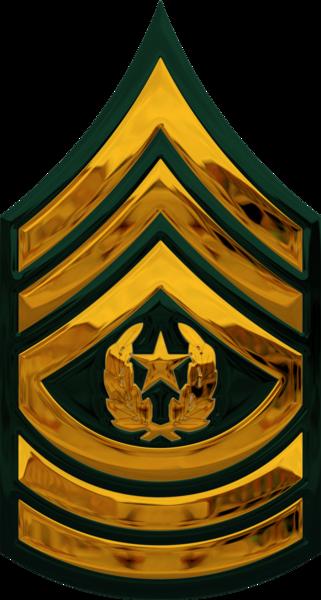 Chrome Us Army E-9 Csm (PSD)   Official PSDs