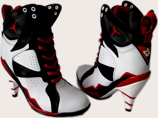 brand new f4f07 e750e Air-jordan-7-high-heels-black-white-red (PSD) | Official PSDs