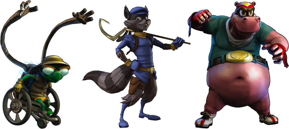 bentley sly cooper murray (psd) | official psds