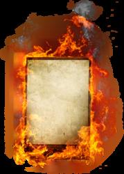 Burning Letter L Psd Official Psds