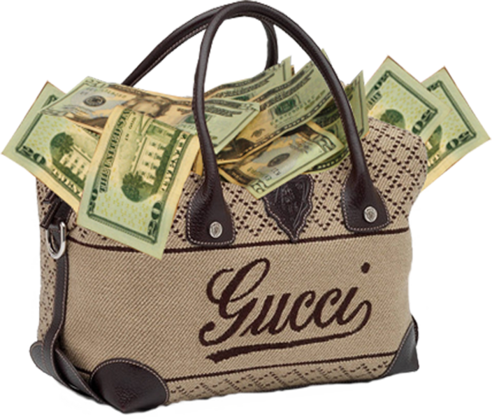 gucci bag full of money psd official psds