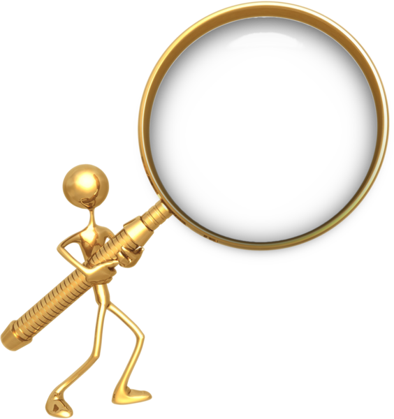 Gold Magnifying Glass (PSD)   Official PSDs