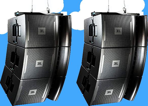 Black Jbl Hanging Concert Stage Speakers PSD