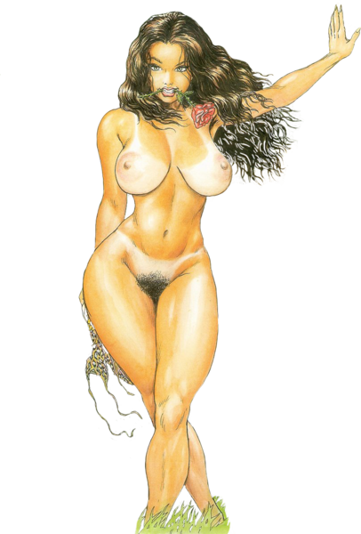 Cavewoman Nude Psd