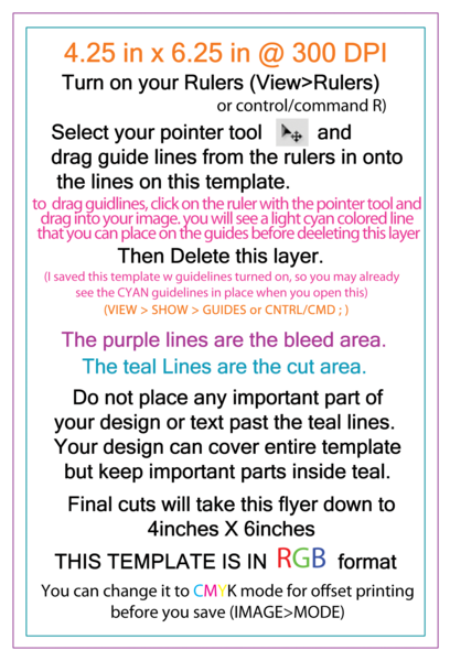 4x6 Flyer Template Rgb (PSD) | Official PSDs