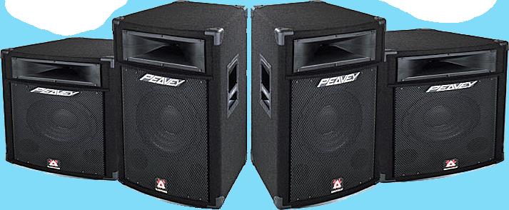 Black Peavey Stage Speakers PSD