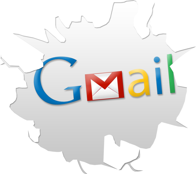 Cracked Gmail Logo (PSD)   Official PSDs