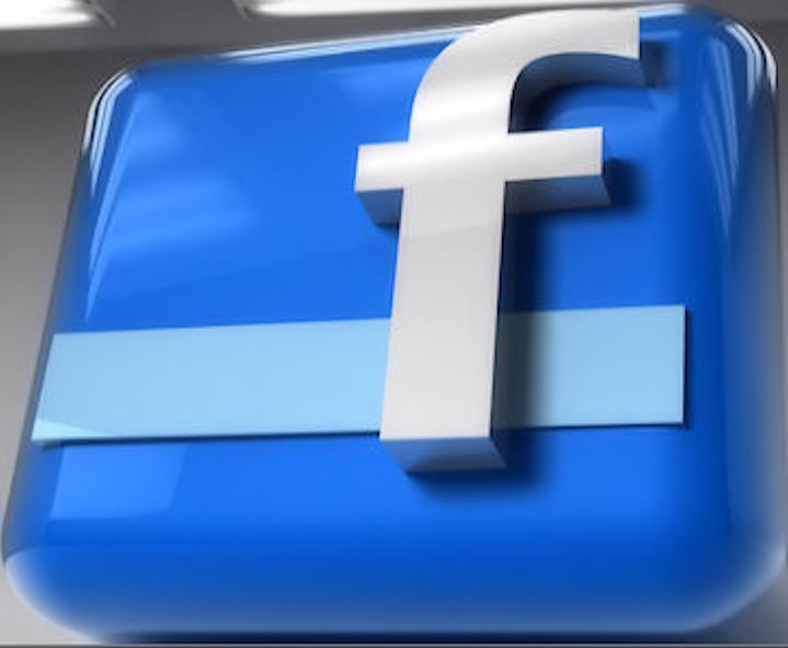 logo facebook 3d psd