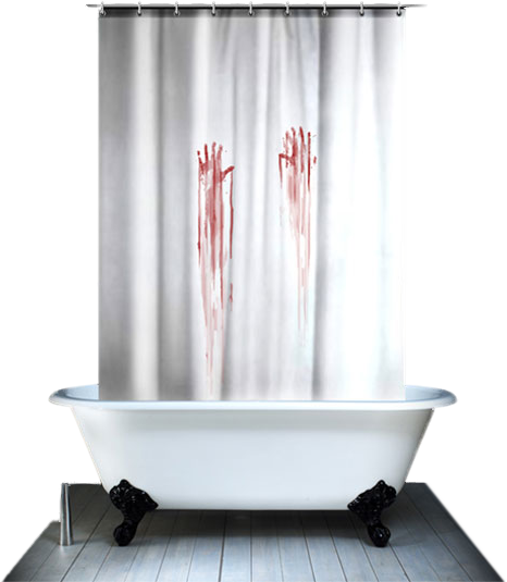 Bloody Shower Curtain PSD
