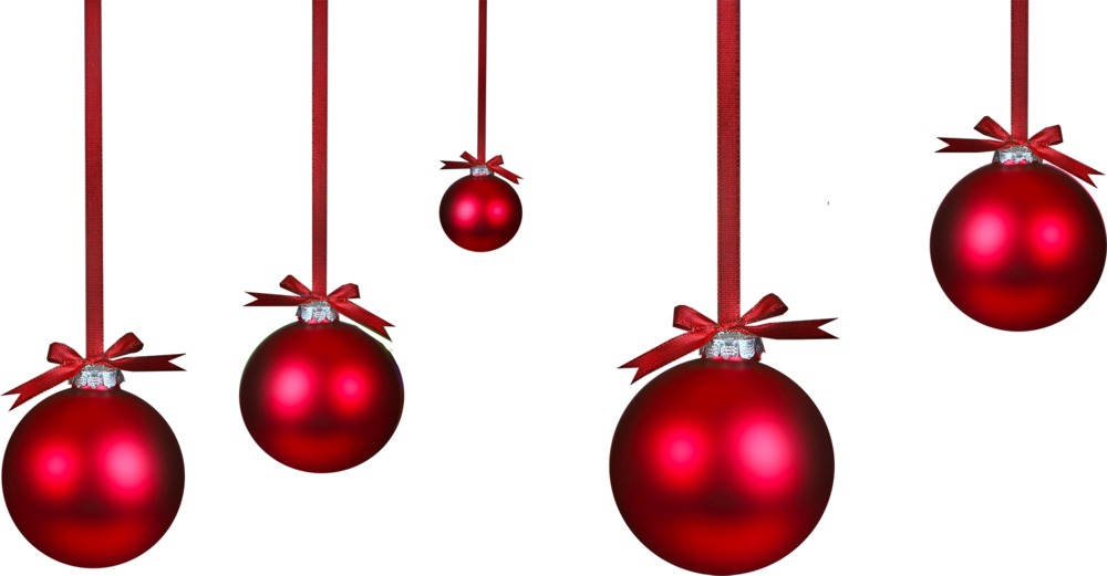 Christmas Ornament Png Transparent Christmas Ornament Png: Red Ornaments (PSD)