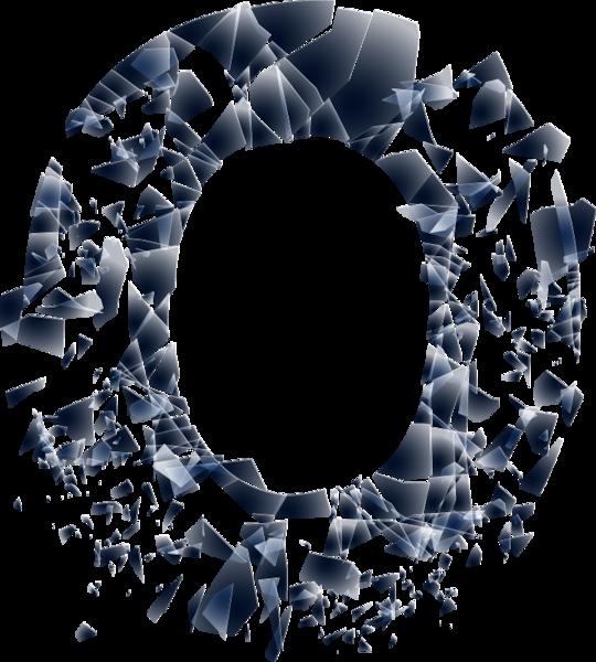 Broken Glass O (PSD) | Official PSDs
