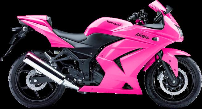 Pink Kawasaki Ninja Bike PSD