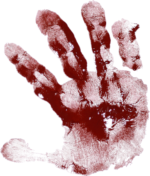 Bloody Hand Smudge (PSD) | Official PSDs