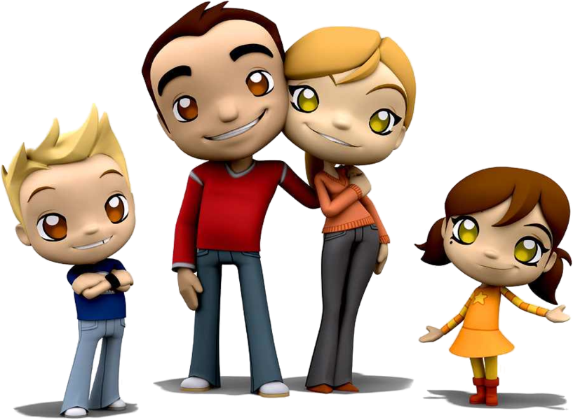 Image My Famly Png: Cartoon Family (PSD)