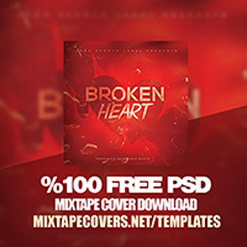 Mixtape Cover Template | Broken Hearts Mixtape Cover Template Psd Official Psds