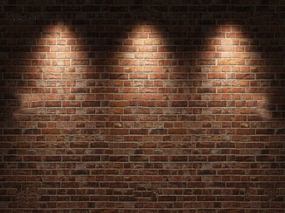 Brick Wall With Lights Jpg Official Psds